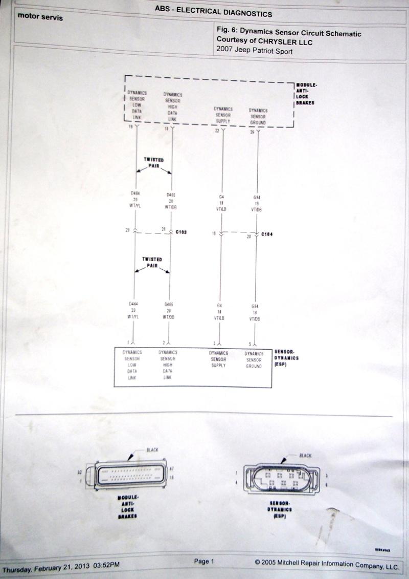 Ремонт проводки ABS-ESP 312