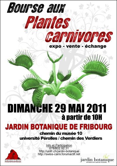 Bourse aux plantes carnivores II - 29/05/2011 - Fribourg Affich10