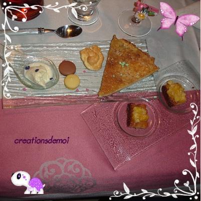 Tarte au sucre façon nord-pas-de-calais ,lit de pain d'épice avec un caviar de cléméntines, Desser10