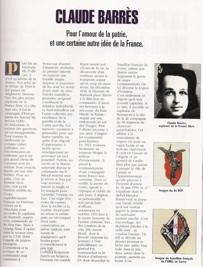 BARRES Claude capitaine 9e RCP Mort au Champ d'Honneur 26 mai 1959 Algérie  Numari67