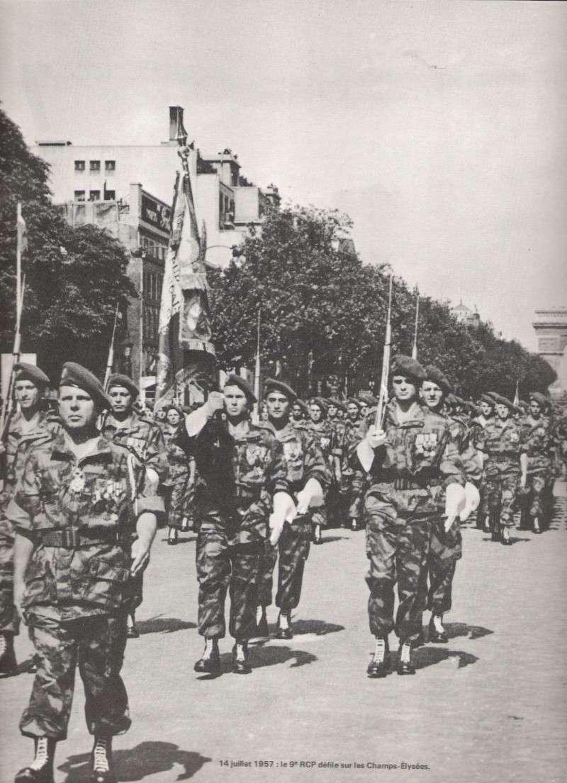 le 9 rcp défilant sur les champs élysée en 1957 Numari97