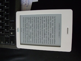 Esperienza di lettura con ebook reader Kobo Touch Dscf8610