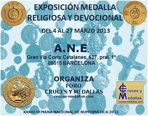 """""""Cruces y Medallas"""" Organizador y Colaborador de la XXXVI SEMANA NACIONAL DE NUMISMÁTICA Propag10"""