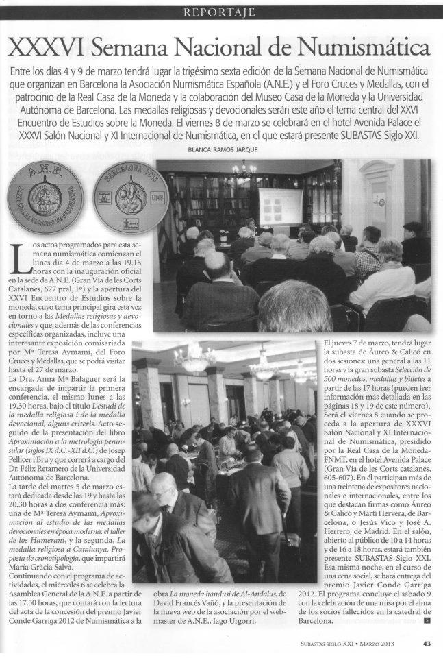 """""""Cruces y Medallas"""" Organizador y Colaborador de la XXXVI SEMANA NACIONAL DE NUMISMÁTICA Report11"""