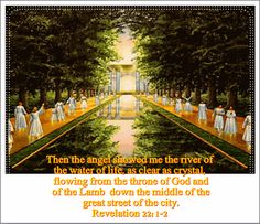 He showed me a river of the water of life Rev 22 R22tre10