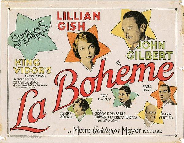1926 - La Bohème Poster19