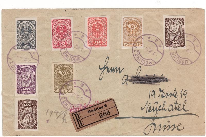 Republik Deutsch-Österreich  -  Bedarfspost Dez. 1918 - Dez. 1921 Img18