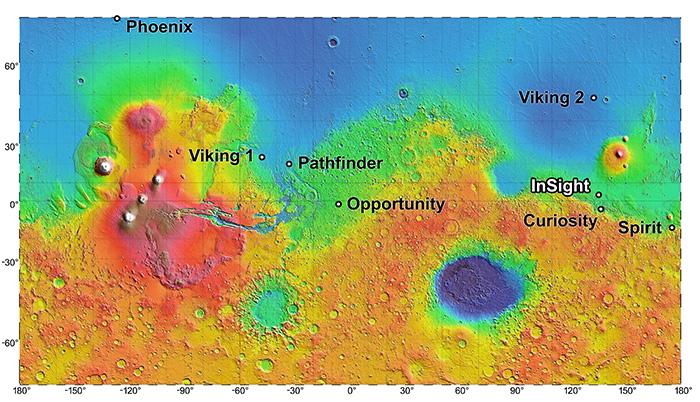 Préparation de la mission martienne InSight Pia17310