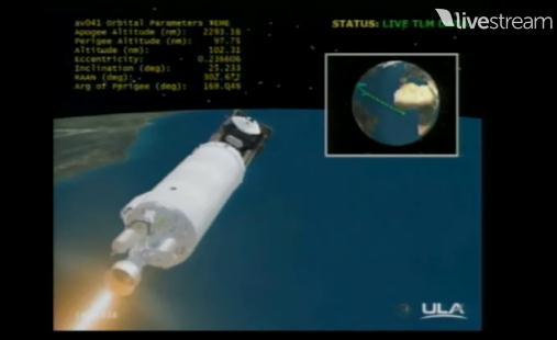 Atlas V 531 (AEHF-3) - 18.9.2013 Scree219