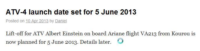 """Lancement Ariane 5 ES VA213 / ATV-4 """"Albert Einstein"""" - 5 juin 2013  - Page 2 Screen92"""