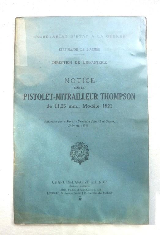 Thompson modèle 1921 au service des Français en Indochine Manuel10