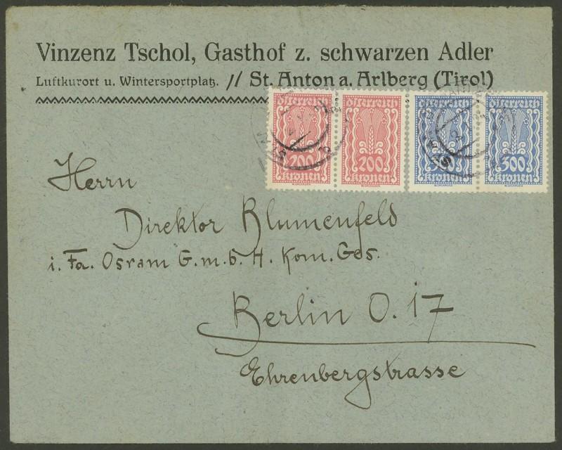 Inflation in Österreich - Belege - 1918 bis 1925 383x2_10
