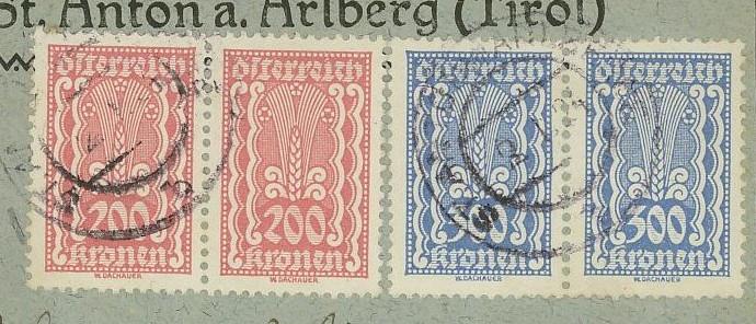 Inflation in Österreich - Belege - 1918 bis 1925 383x2_11