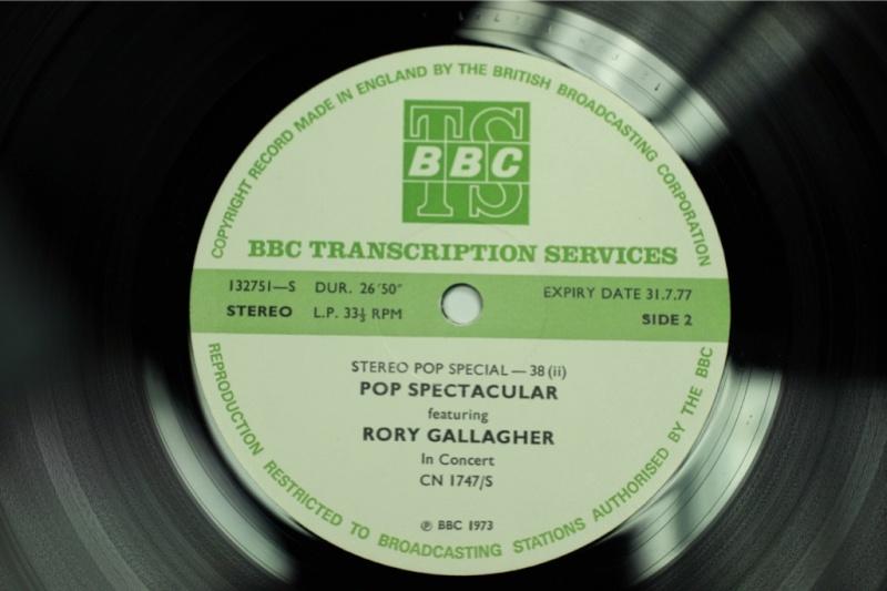 Les enregistrements de Rory à la BBC Garage10