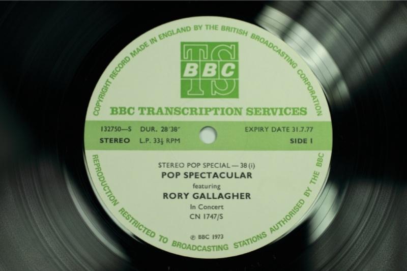 Les enregistrements de Rory à la BBC Garage11
