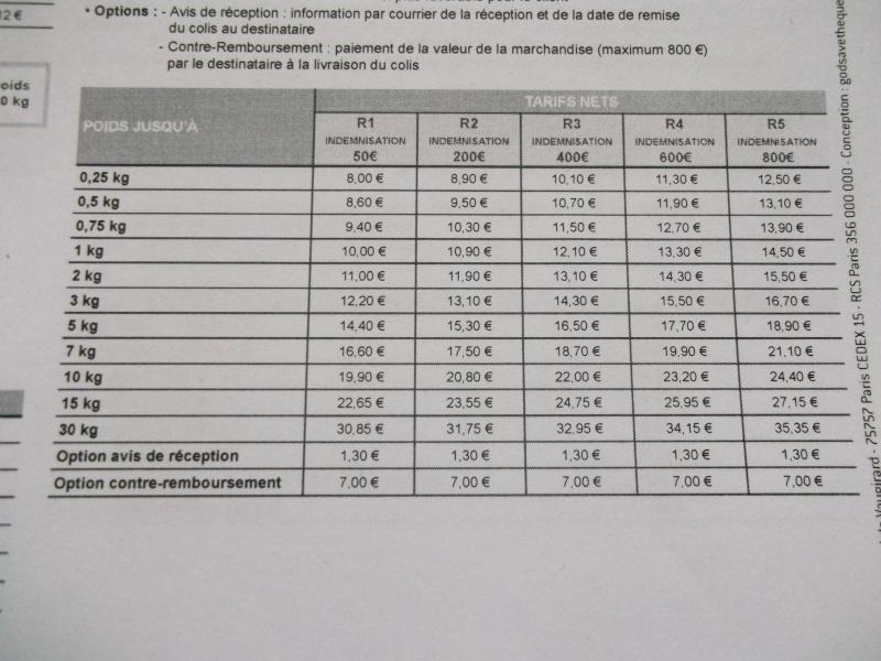 Tarifs colissimo 2013, bonne nouvelle Dscf4711