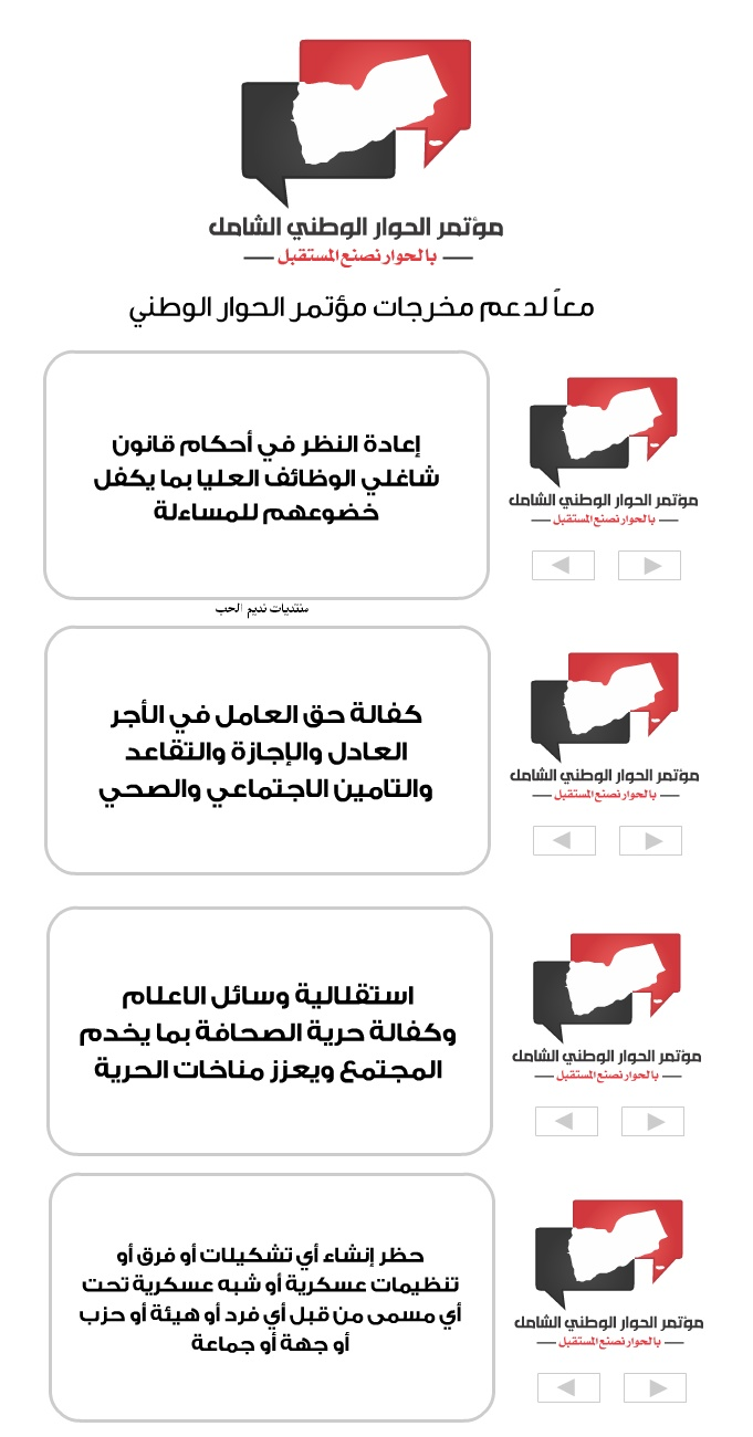 The goals and outcomes of the comprehensive national dialogue Yemen 2013 Full Ououuu10
