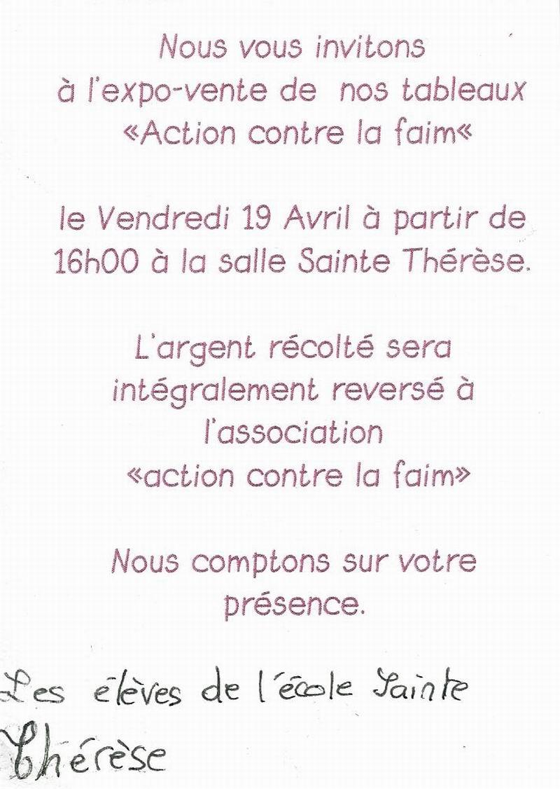 Expo-vente de tableaux le 19 avril à l'école Ste Thérèse Expo_s11