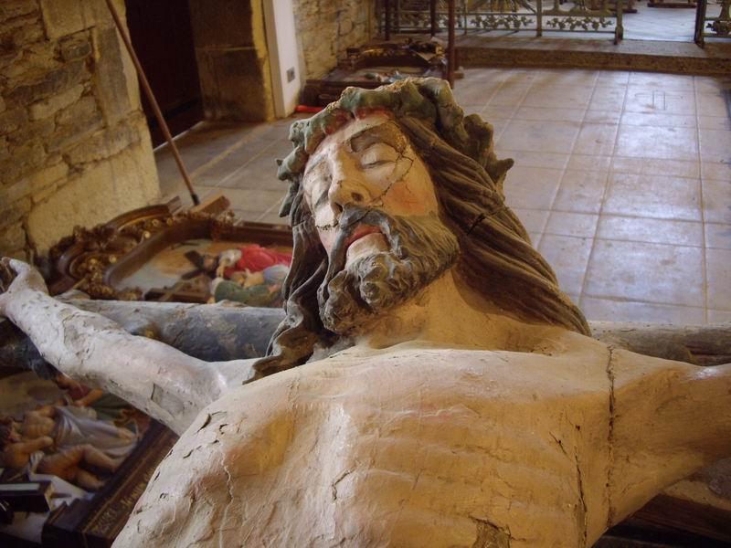 Restauration de la Croix (issue de la Poutre de Gloire) de Brasparts Imgp2513