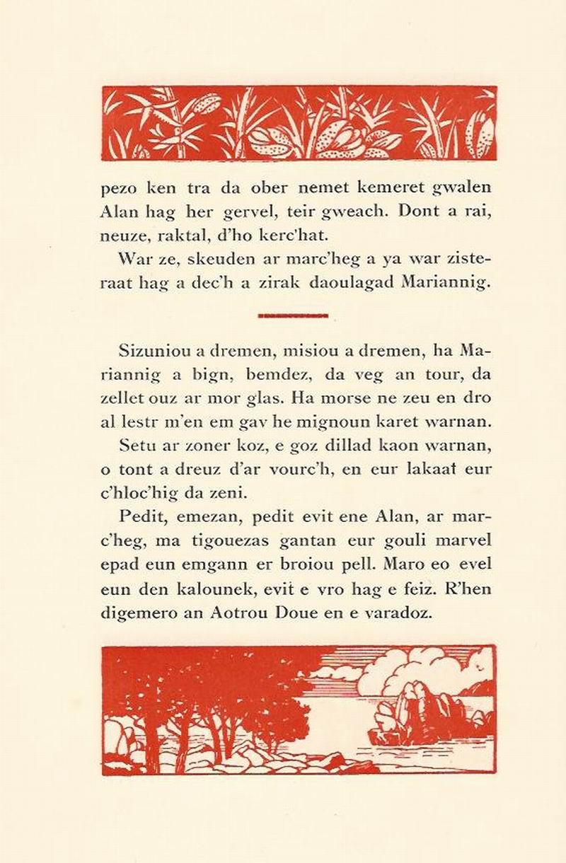 Lennadennoù : Gwimilio/.../ Kerné (Toussaint ar Garrec)/O Breizh ma Bro/ Pleyben, va farrez ! Marian14
