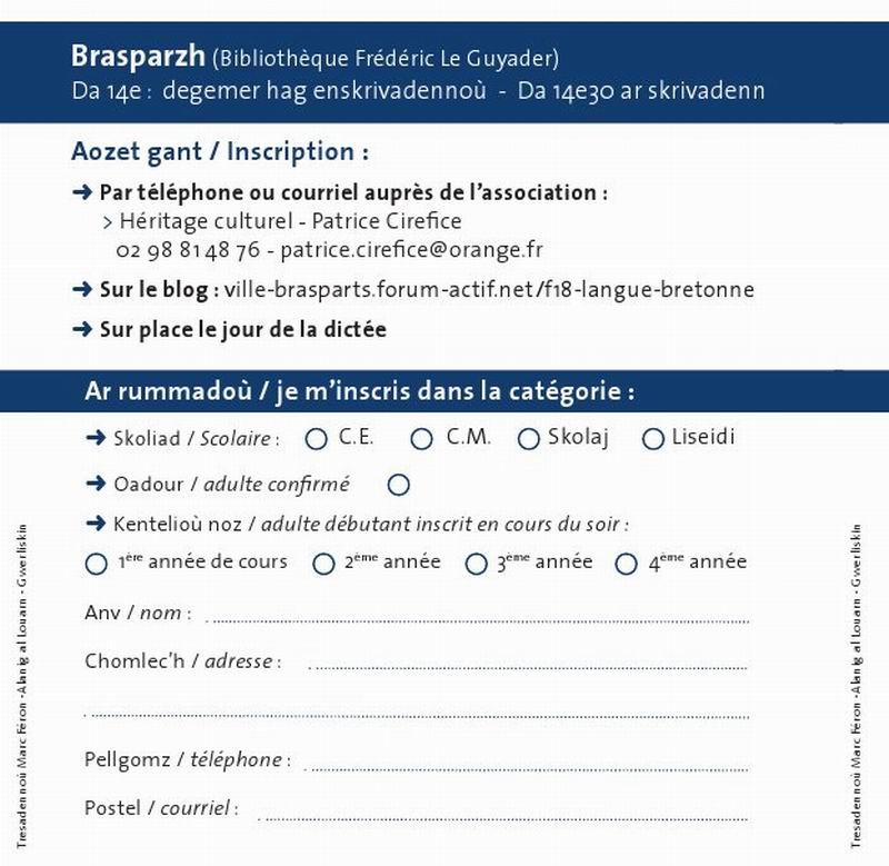 Skrivadeg 2013 - Dictée en Breton 2013 Skriva11