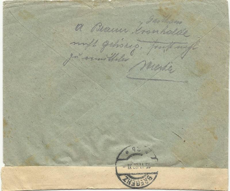 Buchprojekt HILFE - Stempel aus Innsbruck auf Belegen gesucht 19220611