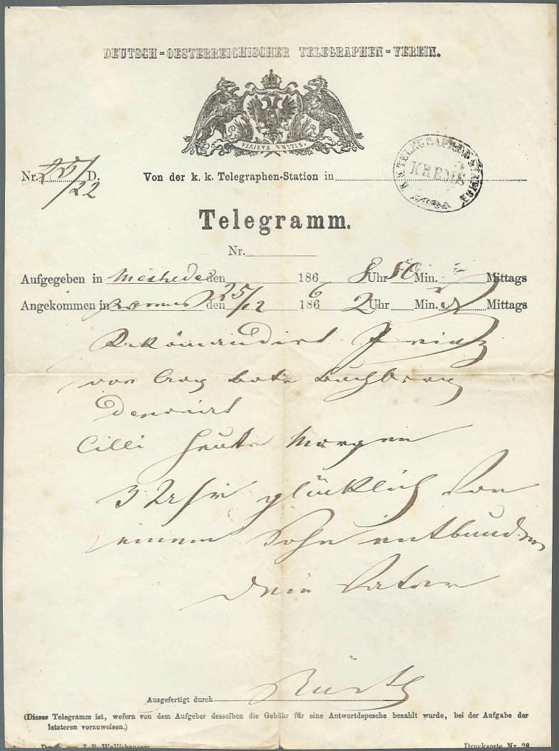 Postgeschichtliche Belege Telegr10