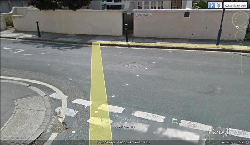 Méridien de Greenwich au travers de Google Earth Grenwi10