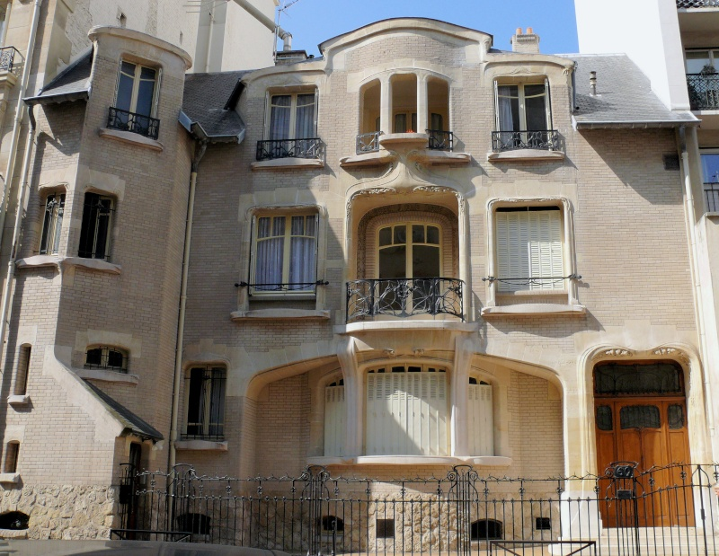 STREET VIEW : les maisons art nouveau  Paris_10