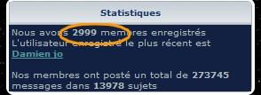 Le 3000ème membre du forum Sans_t53