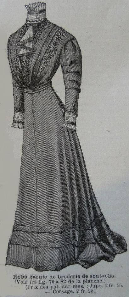 [1909] patron jupe à traîne Robe_s10