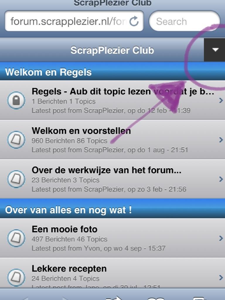 Via je mobile het forum bereiken. Of tablet. Image13