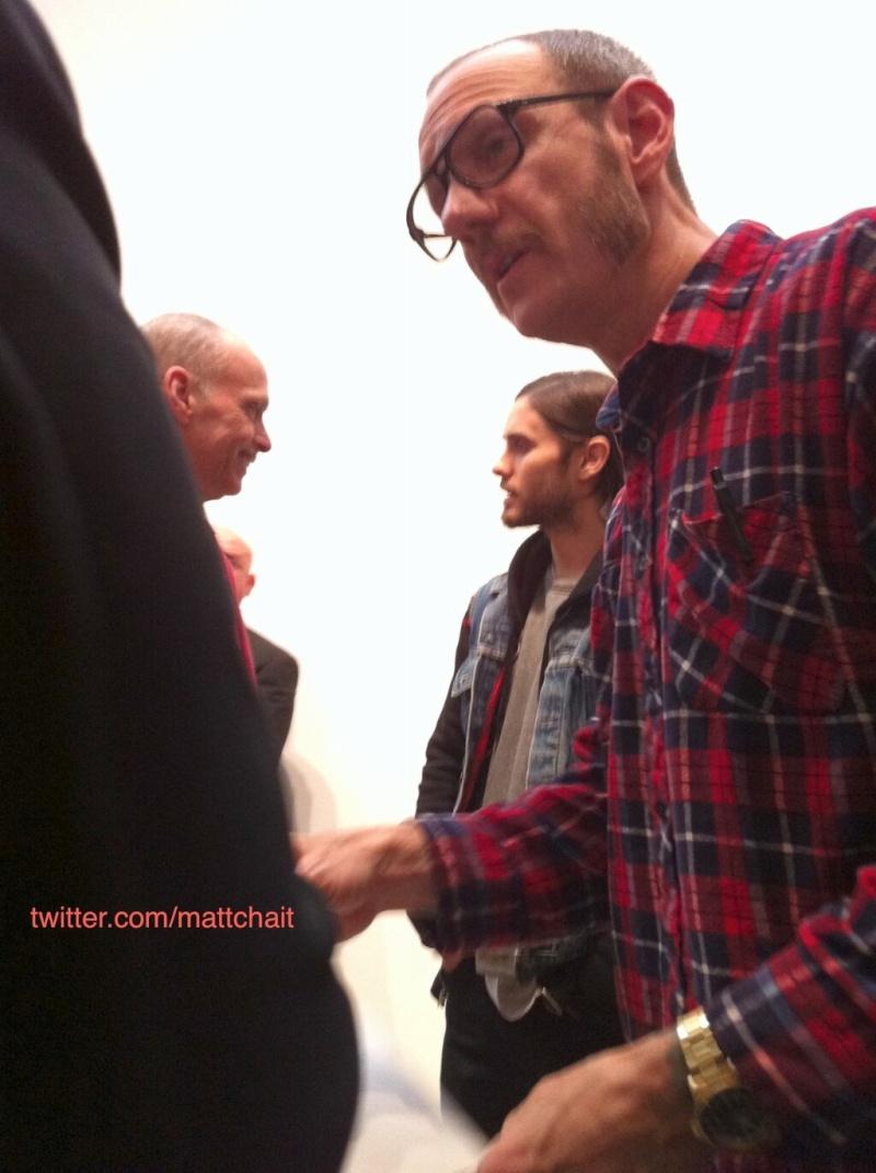 21 février 2013 - Jared à la GAGOSIAN GALLERY - Opening of Richard Prince Bdr6l910