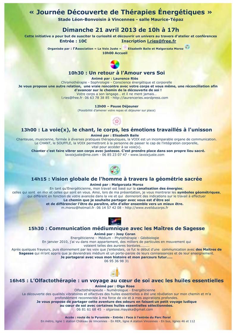 Des Ateliers et/ou Conférences Atelie10