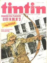 Cryptozoologie bande dessinée Nouveau Tintin numéro 155 29 Aout 1978 Léo Gwen Vicq Hulet carchorodon mégalodon coelacanthe