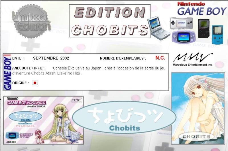 GAMEBOY ADVANCE  : Edition CHOBITS Chobit13