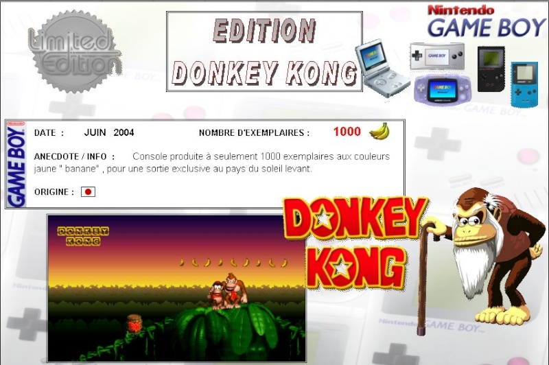 GAMEBOY ADVANCE SP : Edition DONKEY KONG Donkey13