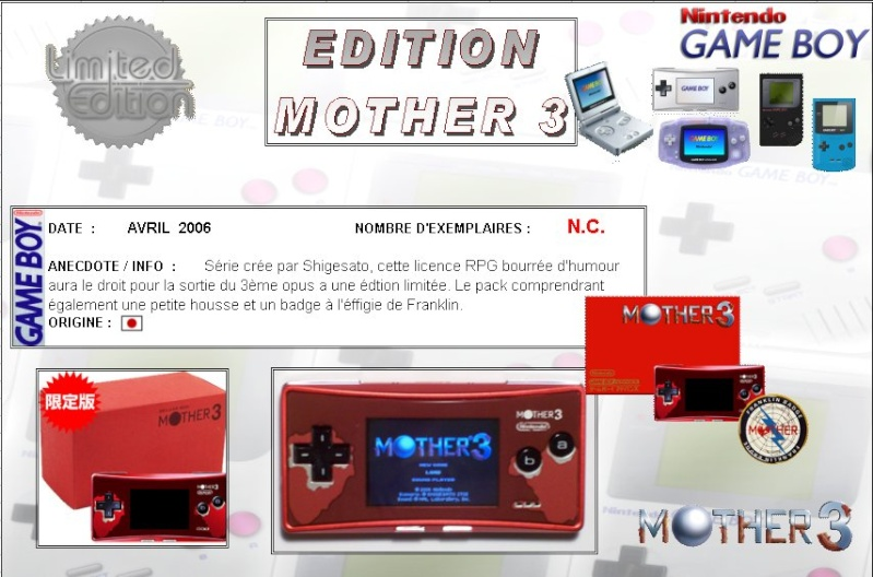 GAMEBOY MICRO : Edition MOTHER 3 Mother14