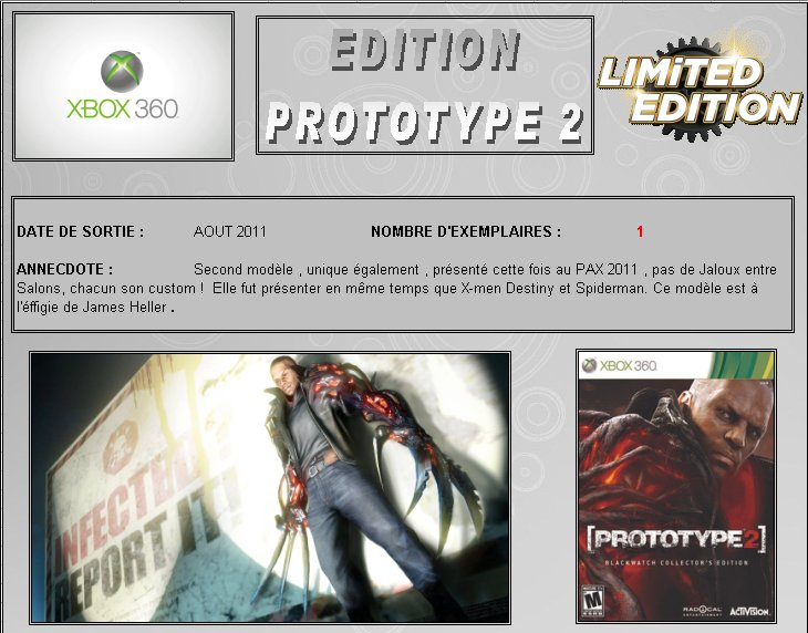 XBOX 360 : Edition PROTOTYPE 2 Protot14