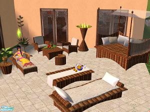 Патио, скамейки Image431