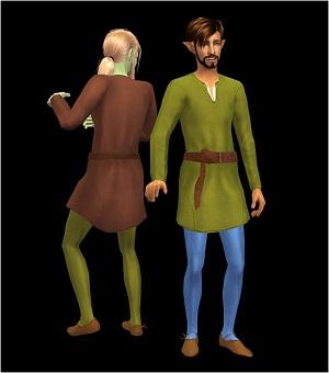Старинные наряды, костюмы - Страница 2 W-600356
