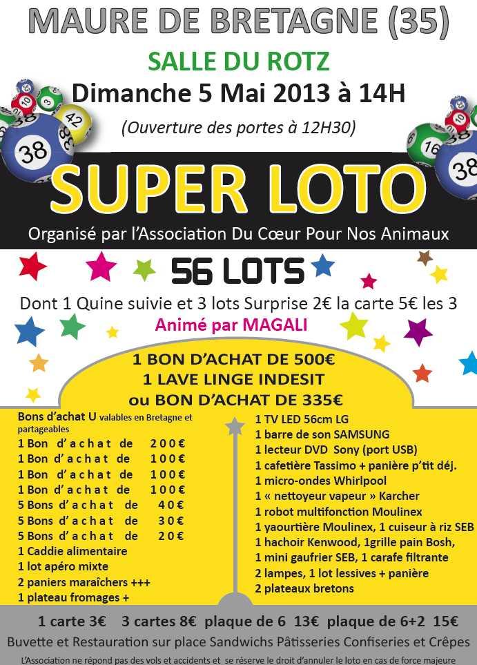 Loto à Maure de Bretagne le dimanche 5 mai 2013 - Page 2 Affich10