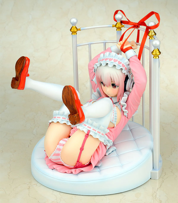 [Figurine] Gift - Super Sonico Lolita Maid ver.+ Bed Base Set 1/6 Complete Figure (Nitro Super Sonic Image Character) Fig-mo39