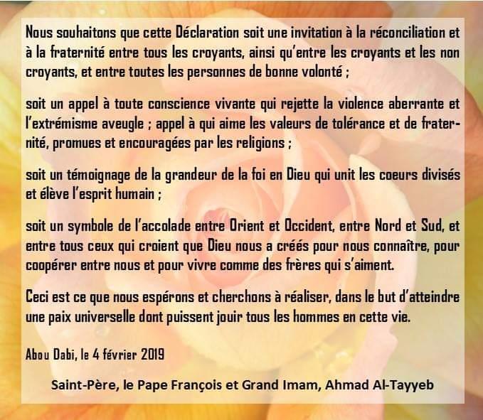 Voyage du pape François aux émirats arabes unis  Fb_img14