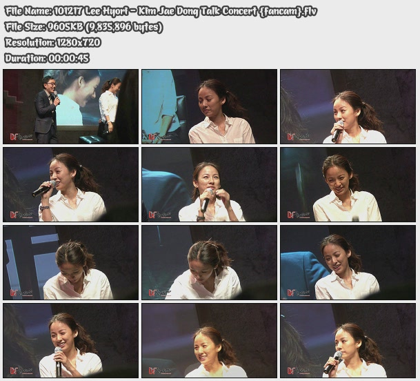 [101217] Hyori - Kim Jae Dong Talk Concert {fancam} 10121710