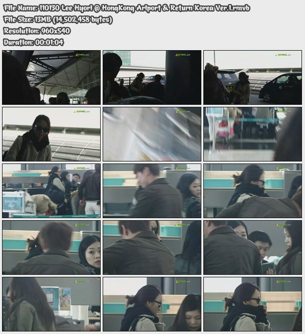 [110130] Hyori @ HongKong Ariport & Return Korea 11013010