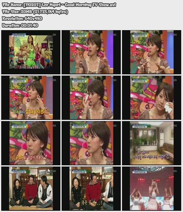 [110207] Hyori - Good Morning TV Show [20M/avi] 11020710