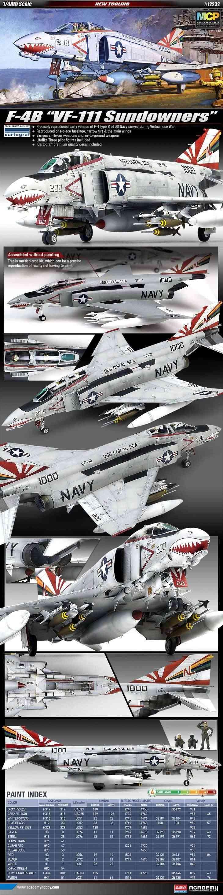 F-4 Phantom II de 1ère classe ! 1/48 12232410