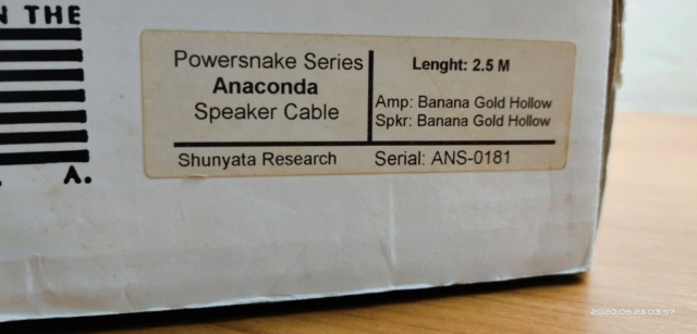 Shunyata Research Anaconda Speaker Cable 2.5m  2020-010