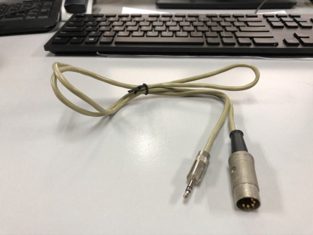 Naim 3.5mm Mini Jack to 5 Pin Din Van Damme audio cable Img_0022